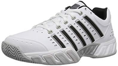 Image result for 4. Tennis Shoe K Swiss Men Bigshot Light LTR Omni White Black Silver