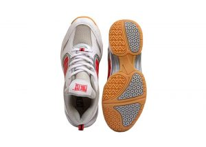 tennis shoes have non-marking soles